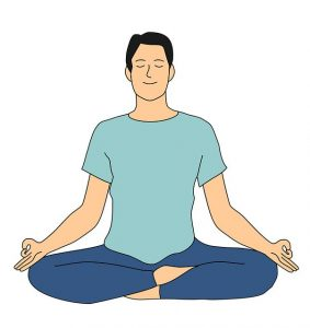 Meditation in hindi, padmasana