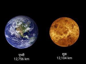 Earth vs venus in hindi