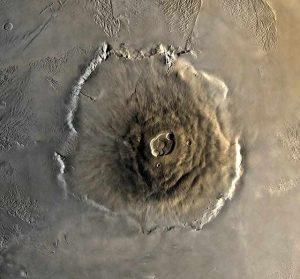 Olympus mons in hindi, ओलम्पस मोन्स ज्वालामुखी