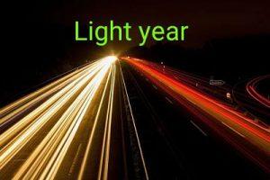 Light year in hindi